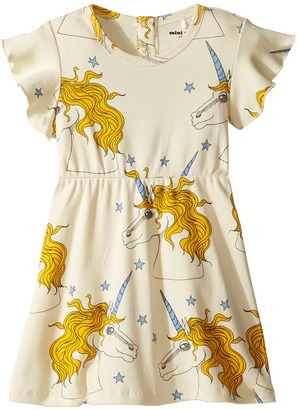 mini rodini - Unicorn Star Wing Dress Girl's Dress $52 thestylecure.com