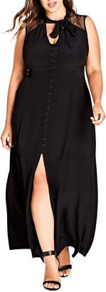 City Chic Makishi Sleeveless Maxi Dress