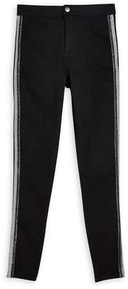Topshop Tinsel Sequin Side Stripe Jeans
