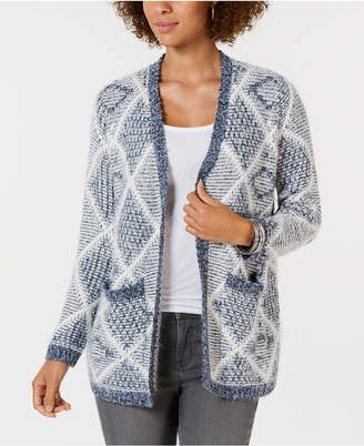 Style&Co. Style & Co Eyelash Pattern Cardigan Sweater, Created for Macy's