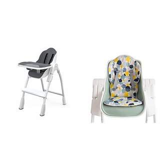 Oribel Folding Reclining Highchair, Slate with Cocoon Reversible Highchair Seat Liner