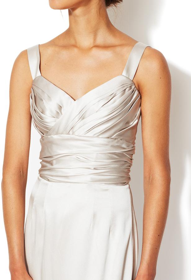 Dolce & Gabbana Silk Ruched Bodice Gown