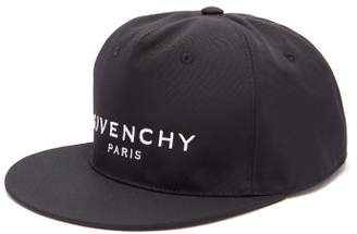 Givenchy Logo Cotton Baseball Cap - Mens - Black