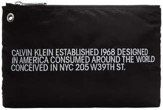 Calvin Klein Black Small Nylon Logo Pouch