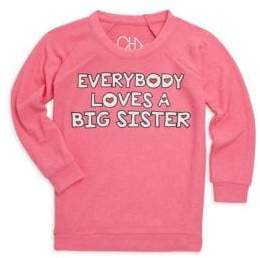 Chaser Little Girl's& Girl's Everybody Loves A Big Sister Sweatshirt