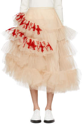 Simone Rocha Pink Tulle Embroidered Dolls Skirt
