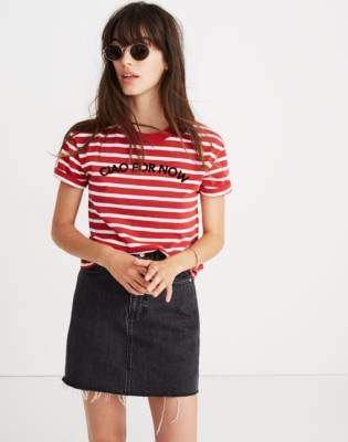 Madewell Striped Ciao For Now Tee