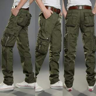 MUSIFLX Outdoor Sports Pants Multi-Pocket Overalls Casual Pants Hiking Trousers