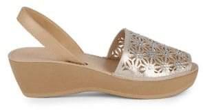 Kenneth Cole Reaction Shine Far Metallic Wedge Sandals