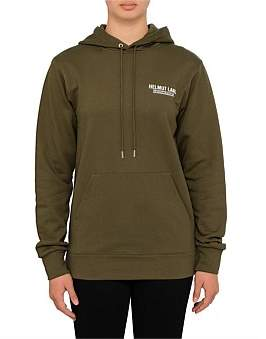 Helmut Lang Compact French Terry Logo Hoodie