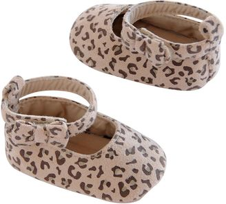 Baby Girl Carter's Leopard Print Bow Flat Crib Shoes $17 thestylecure.com