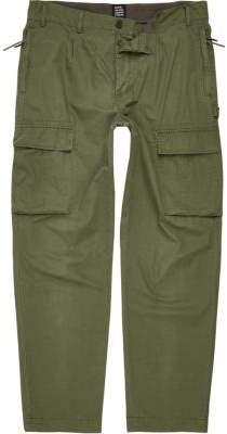 River Island Khaki green Design Forum cargo pants