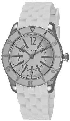 Azzaro メンズaz2200.12aa。01 a Coastline White Dial and Rubber Strap Watch