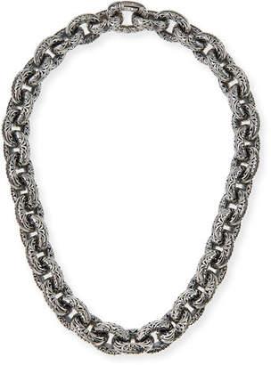 Konstantino Chunky Filigree Link Collar Necklace