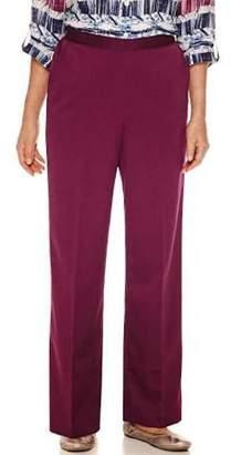 Alfred Dunner Womens Corduroy Pull-on Corduroy Pants Purple