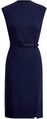 Ralph Lauren Lauren Mockneck Sheath Dress $135 thestylecure.com