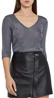 Reiss Carissa Metallic Knit Top