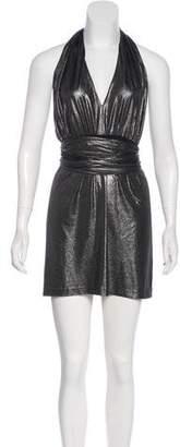 Halston Metallic Mini Dress w/ Tags