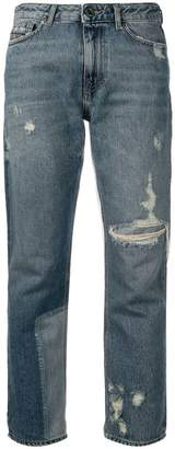 Diesel Black Gold straight jeans with bleached patch