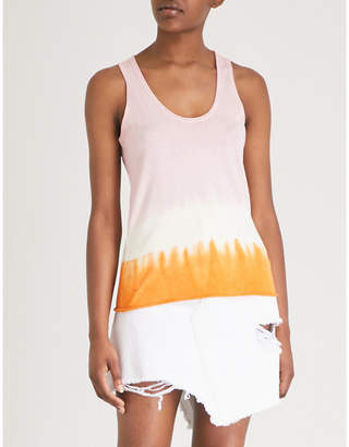Zadig & Voltaire Jona silk and cotton-blend tank top
