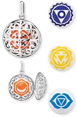 Engelsrufer Women's 925 Sterling Silver Orange Pendant with Four Changeable Sound Lenses Sacral, Throat, Solarplexus and Brow Chakra
