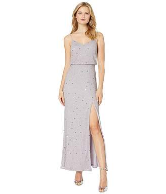 Adrianna Papell Beaded Blouson Evening Gown