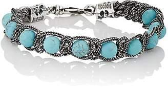 Emanuele Bicocchi Men's Turquoise Beaded Bracelet - Blue
