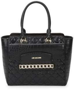 Love Moschino Quilted Faux Leather Tote Bag