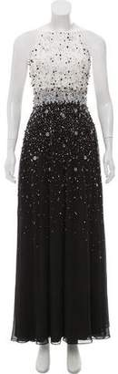 Aidan Mattox Embellished Evening Gown