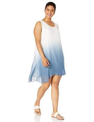 M Made in Italy Women's Plus Size Sleeveless Silk Dress