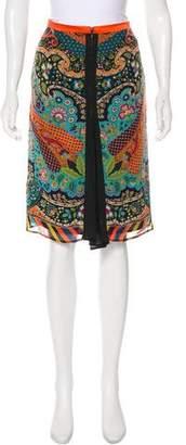 Etro Paisley Knee-Length Skirt
