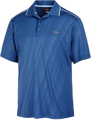 Greg Norman For Tasso Elba Men's Embossed Performance Sun Protection Golf Polo $55 thestylecure.com