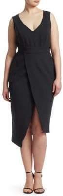 Marina Rinaldi Ashley Graham x Jersey Sleeveless Wrap Dress