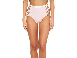 Splendid Color Block High-Waist Bikini Bottom Women's Swimwear