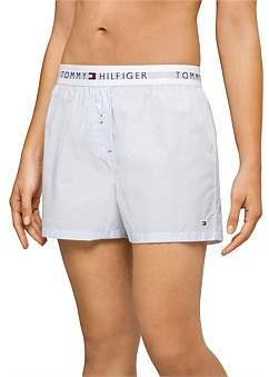 Tommy Hilfiger Cotton Iconic Woven Boxer End On End