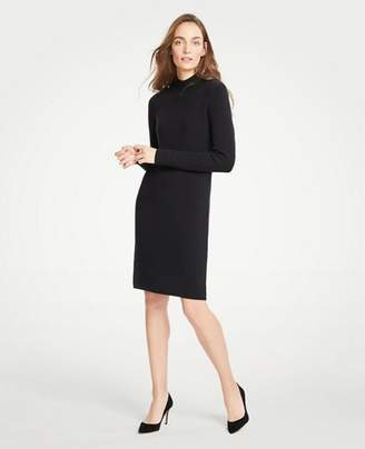 Ann Taylor Petite Turtleneck Sweater Shift Dress