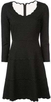 Kate Spade polka dot scalloped dress