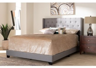 Baxton Studio Brady Modern and Contemporary Light Grey Fabric Upholstered King Size Bed