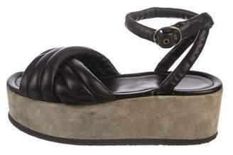 Isabel Marant Leather Wedge Sandals