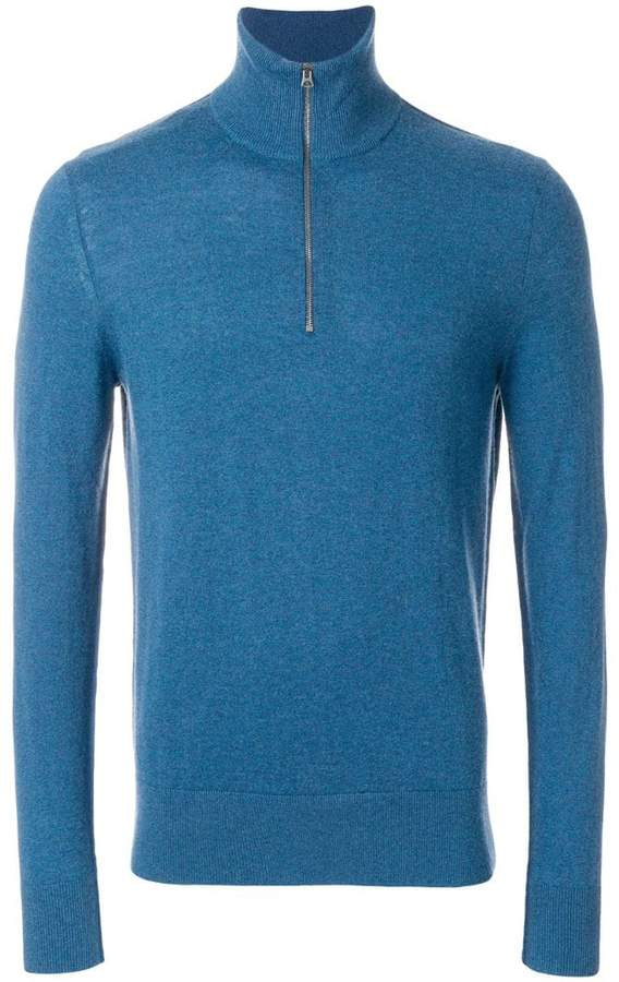 Burberry roll-neck zip sweater