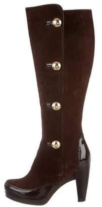 Fendi Round-Toe Knee-High Boots