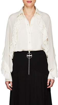 Givenchy Women's Pleat-Detailed Silk-Blend Blouse
