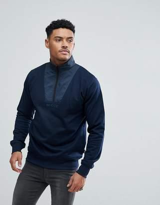 Nicce London sweatshirt with half zip funnel neck