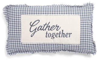 14x24 Gather Together Plaid Pillow
