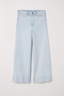 H&M Denim Culottes High waist - Blue