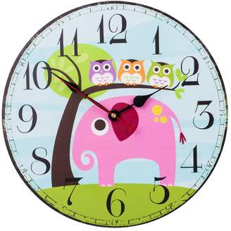 SkyNature Colorful Decorative Wooden Wall Clock Silent Non- ticking for Kid's Room (12 inch )