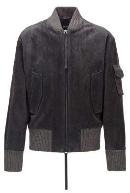 BOSS Bomber jacket in brushed suede
