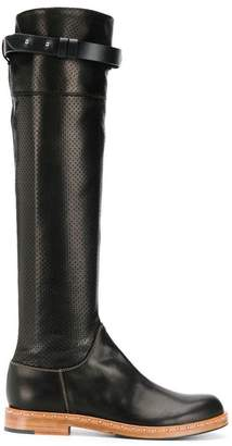 Ermanno Scervino perforated knee high boots