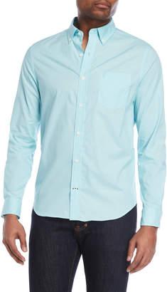 Nautica Slim Fit Button-Down Poplin Sport Shirt