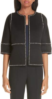 Michael Kors Cookie Studded Wool & Cashgora Jacket